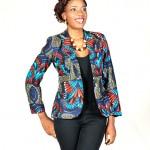 blazer afrikan print